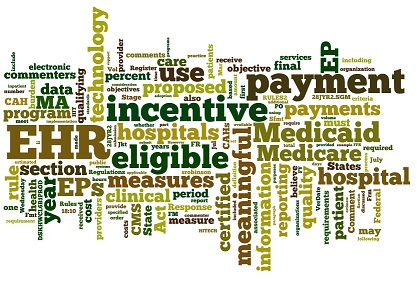 Meaningful Use Wordcloud